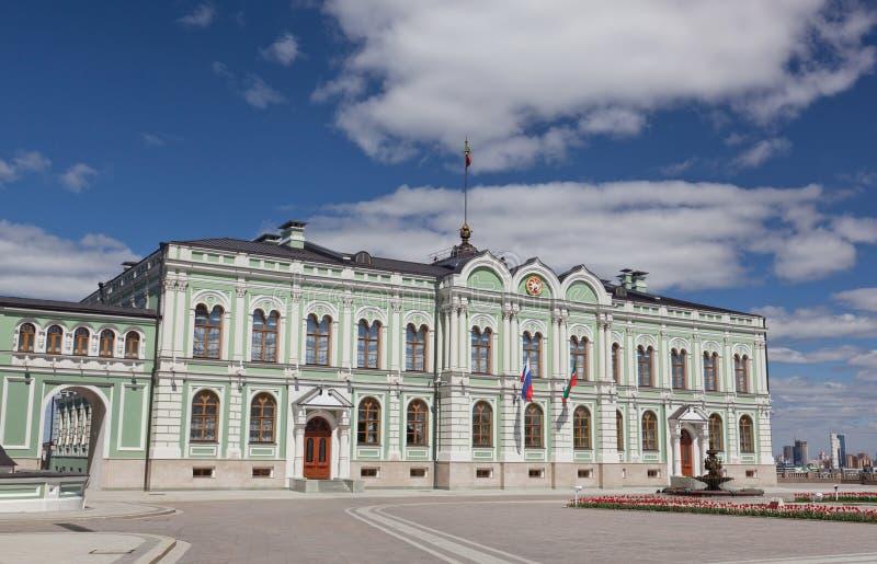 Дворец президента республики Татарстана стоковые изображения