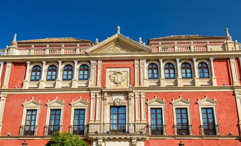 Дворец Реальн Audiencia de los Grados в Севилье, Испании стоковое фото
