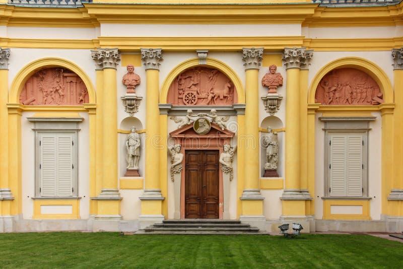 Дворец & сады Wilanow. фасад. Варшава. Польша. стоковая фотография