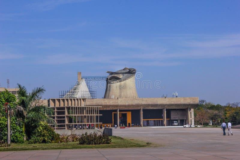 Дворец собрания или законодательной ассамблеи, Чандигарха, Индии стоковое изображение