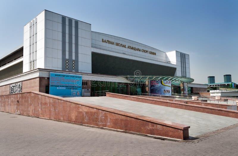 Дворец спорт Baluan Sholak в Алма-Ате стоковое фото