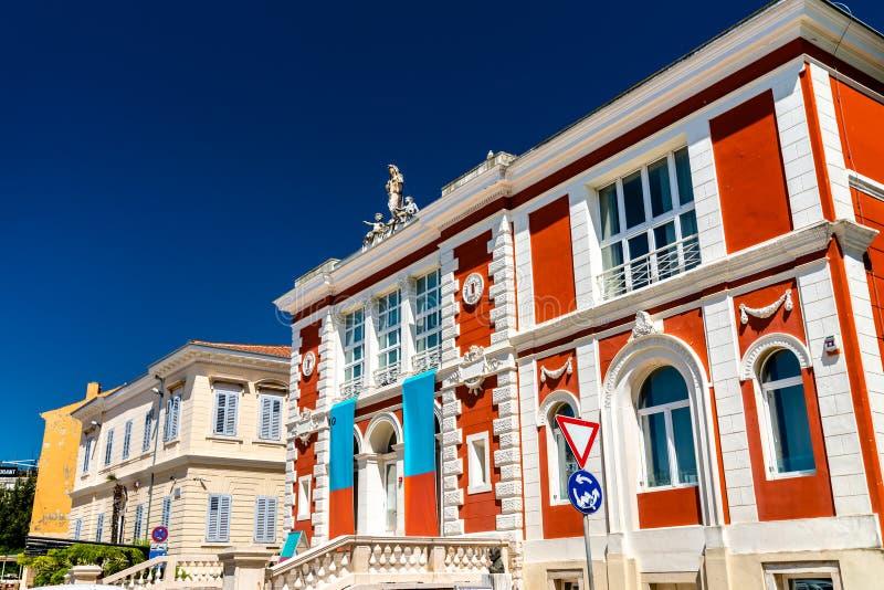 Дворец театра в Porec, Хорватии стоковая фотография