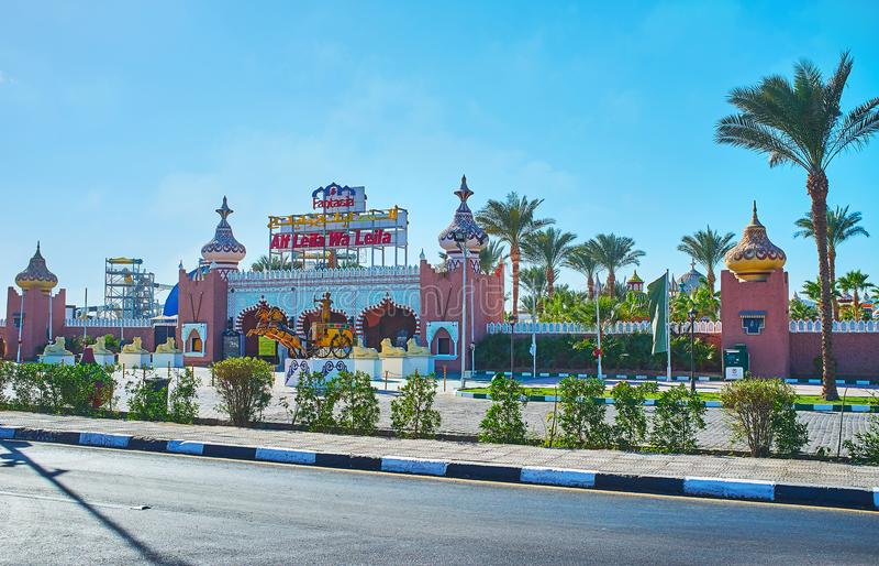 Дворец фантазии в Sharm El Sheikh, Египте стоковые фото