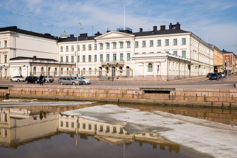 дворец Финляндии helsinki президентский стоковое фото