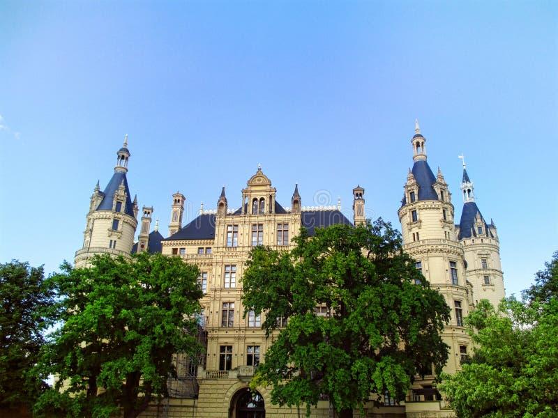 Дворец Шверина в Германии стоковые изображения
