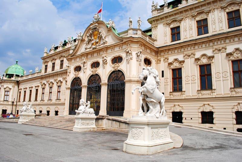 дворец belvedere стоковое изображение rf