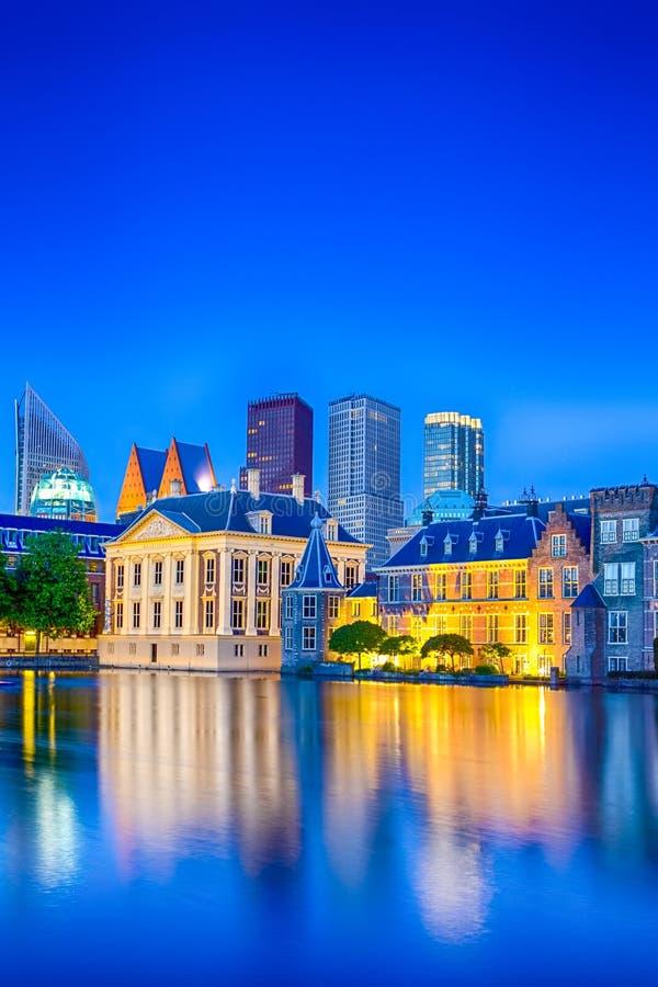 Дворец Binnenhof парламента в Гааге стоковая фотография rf