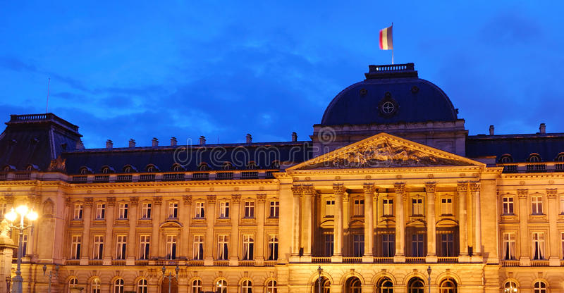 дворец brussels королевский стоковое фото rf