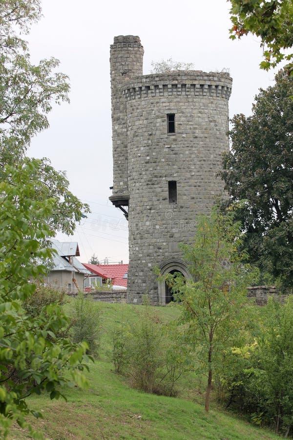Дворец Cantacuzino - башня стоковые изображения rf