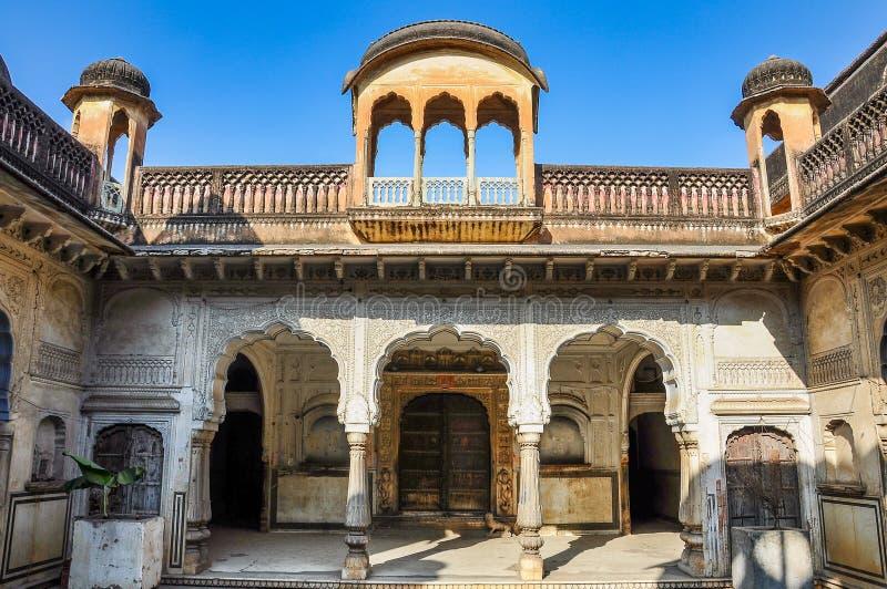 Дворец Chandra Mahal, дворец города в Джайпуре, Раджастхане в Индии стоковое фото