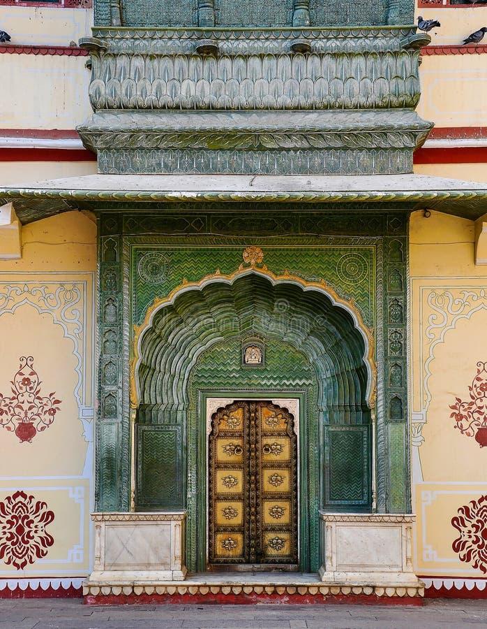 Дворец Chandra Mahal, дворец города в Джайпуре, Раджастхане в Индии стоковое изображение rf