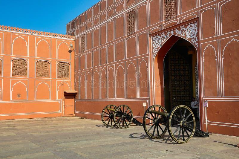 Дворец Chandra Mahal, дворец города в Джайпуре, Раджастхане в Индии стоковая фотография rf