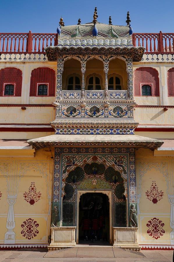 Дворец Chandra Mahal, дворец города в Джайпуре, Раджастхане в Индии стоковые фотографии rf