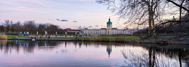 Дворец Charlottenburg в Берлине, Германии стоковые изображения rf