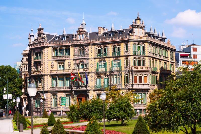 Дворец Chavarri в Бильбао стоковая фотография rf