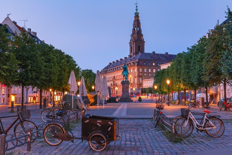 Дворец Christiansborg, Копенгаген, Дания стоковое фото rf