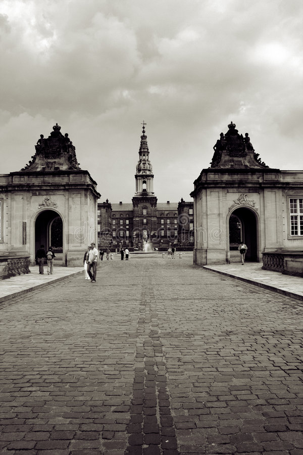 дворец christiansborg стоковое фото