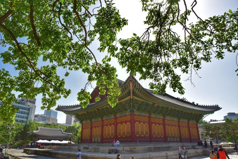 Дворец Deoksugung, Сеул, Корея стоковое изображение