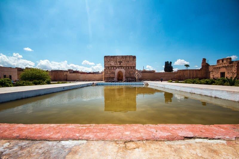 Дворец El Badi, Marrakech, Marocco стоковые изображения