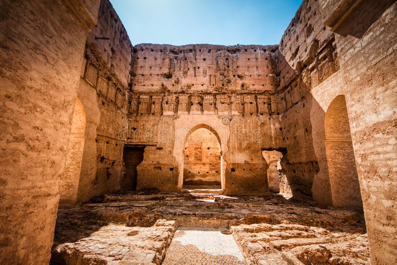 Дворец El Badi, Marrakech, Marocco стоковое изображение