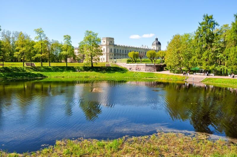 Дворец Gatchina и парк, Россия стоковая фотография rf