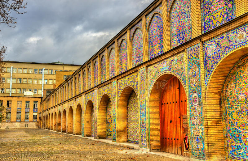 Дворец Golestan, место наследия ЮНЕСКО в Тегеране стоковые фотографии rf