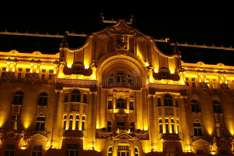 дворец gresham budapest стоковая фотография rf