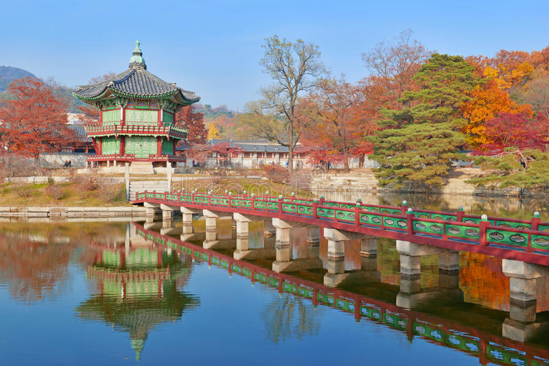 Дворец Gyeongbokgung, Сеул, Южная Корея стоковое фото rf