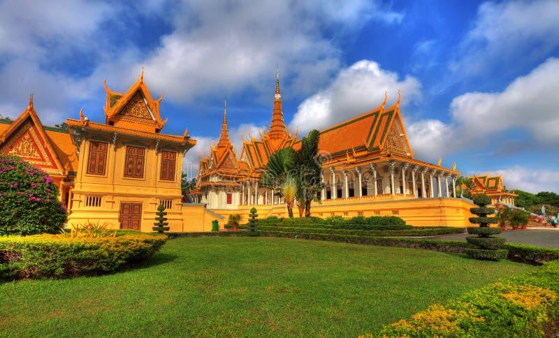 дворец hdr Камбоджи королевский стоковая фотография rf