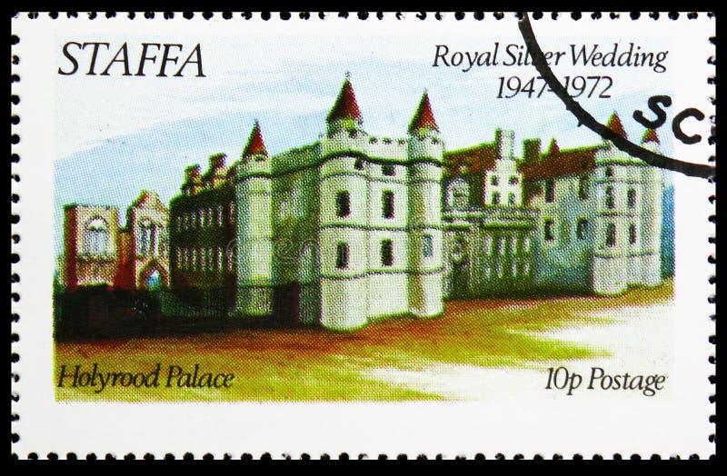 Дворец Holyrood, королевская серебряная свадьба, serie Staffa Шотландии, около 1972 стоковые фото