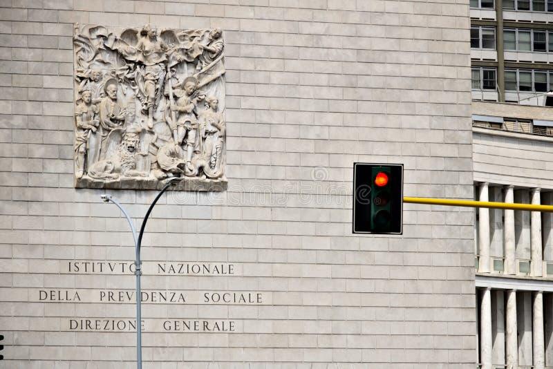 Дворец INPS в Риме Eur, через Ciro il большой стоковые изображения