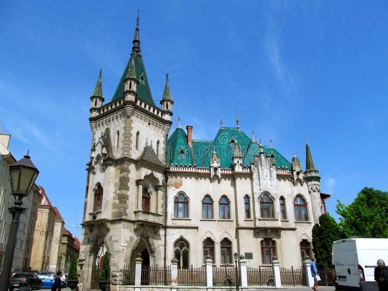 Дворец Jakab в Kosice, конце-вверх стоковые изображения