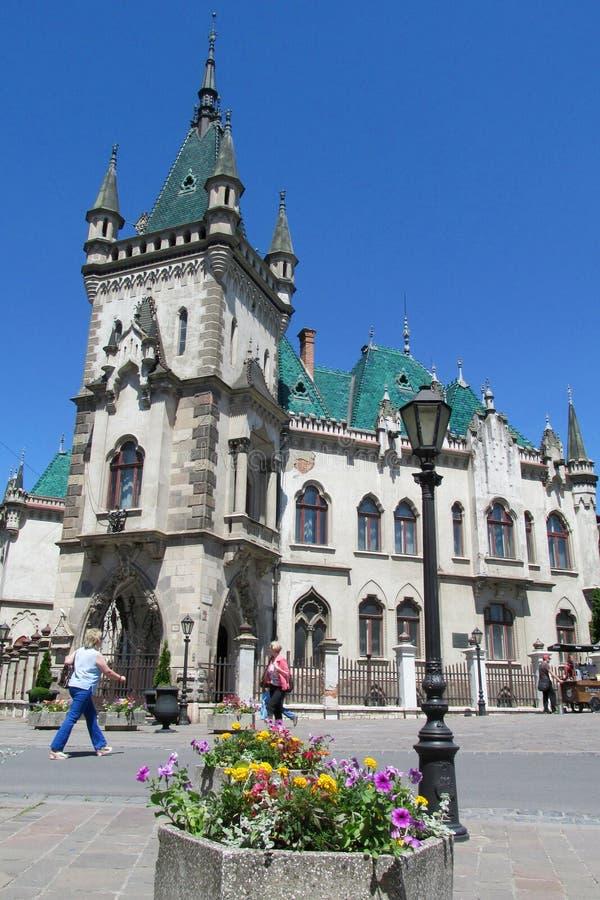 Дворец Jakab в Kosice стоковое изображение