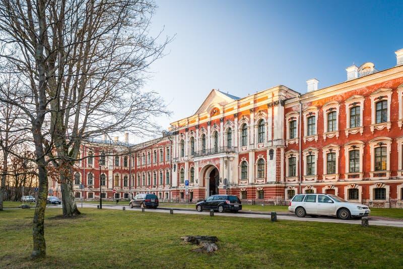 Дворец Jelgava в Латвии построил известным архитектором Rastrelli стоковая фотография rf