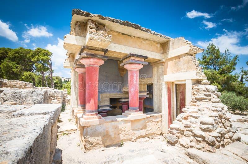 Дворец Knossos, остров Крита, Греция стоковые фотографии rf