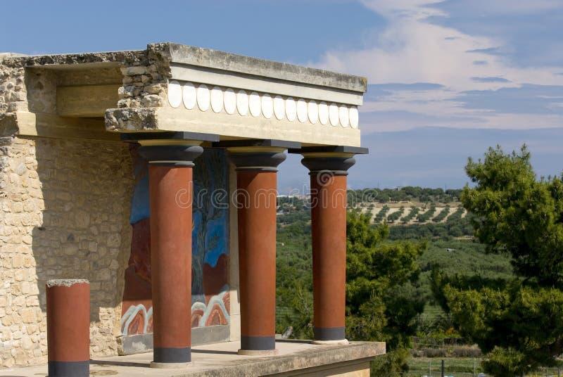 дворец knossos стоковые фото