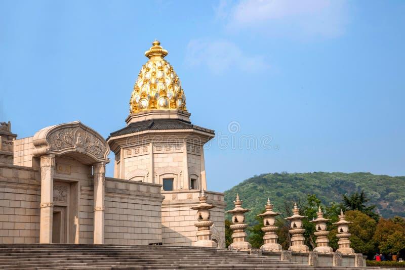 Дворец Lingshan Ватикана в горе Lingshan стоковое фото rf