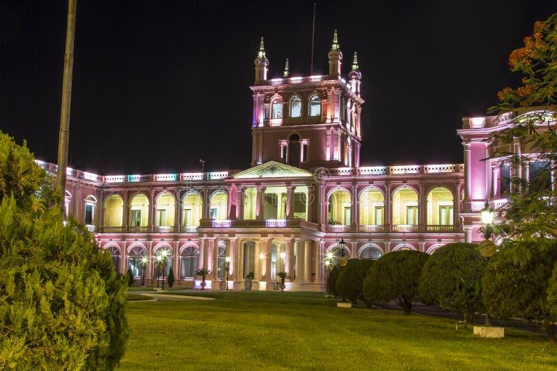 Дворец Lopez президентский Столица Асунсьон, Парагвая стоковые фото