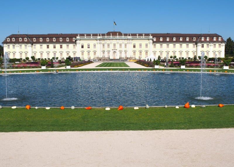 Дворец Ludwigsburg жилой в rttemberg ¼ Бадена-WÃ, Германии стоковое изображение