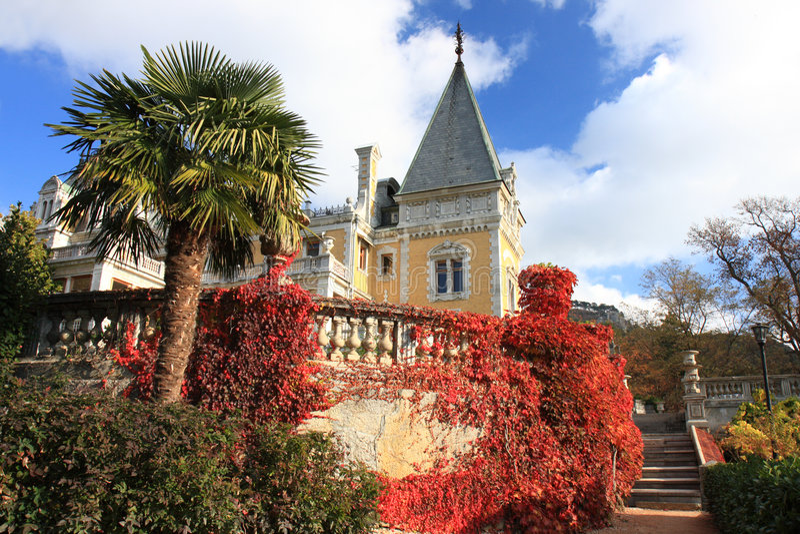 дворец massandra Александра III стоковые фотографии rf