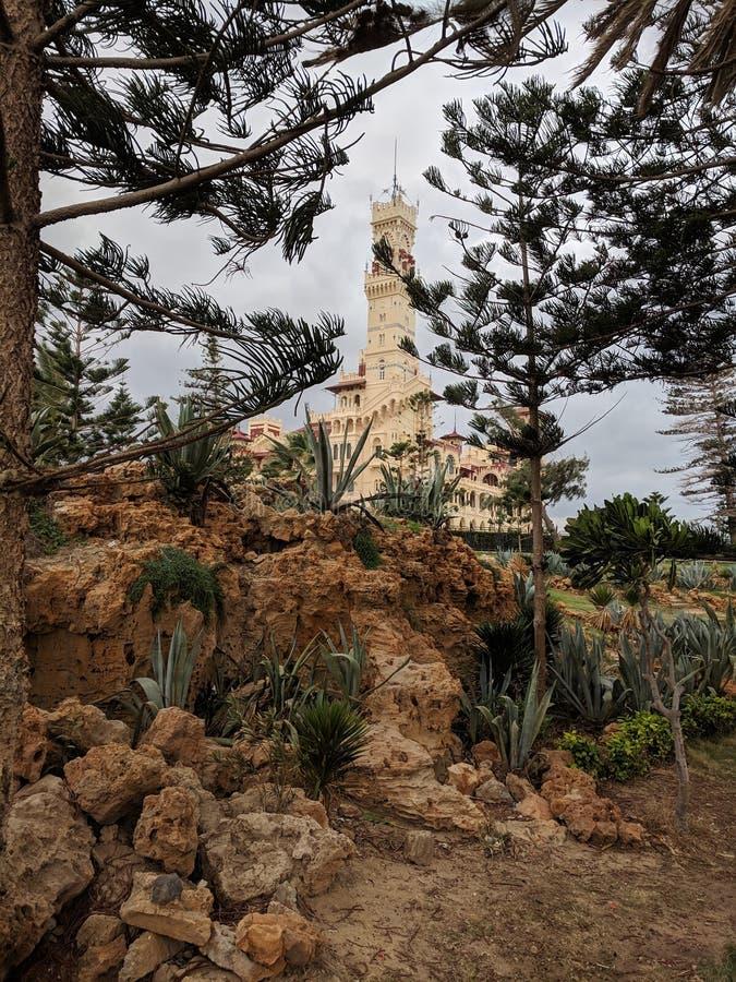 Дворец Montazah стоковые фотографии rf