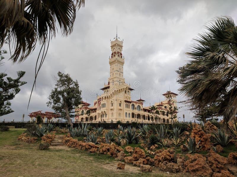 Дворец Montazah стоковые изображения rf