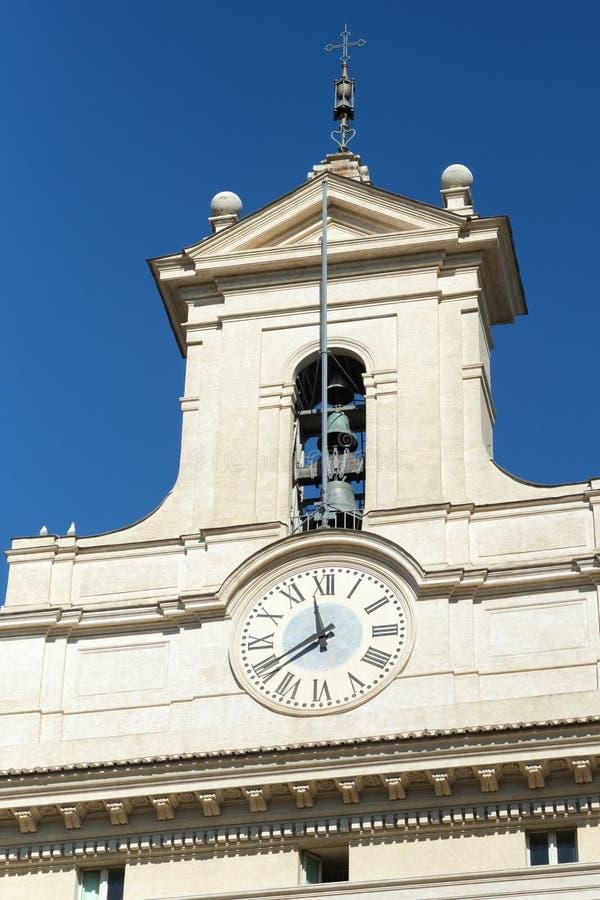 Download Дворец Montecitorio в Риме стоковое фото. изображение насчитывающей памятник - 37926454