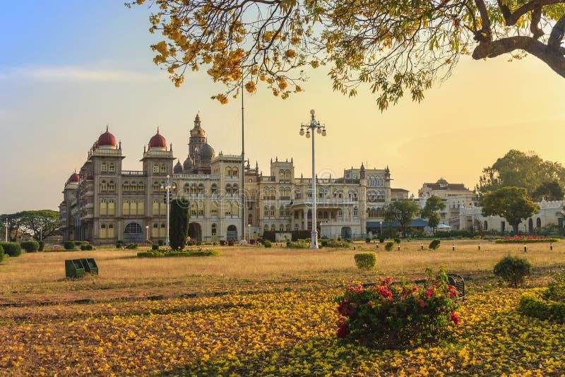 Дворец Mysore, Индия стоковое фото rf
