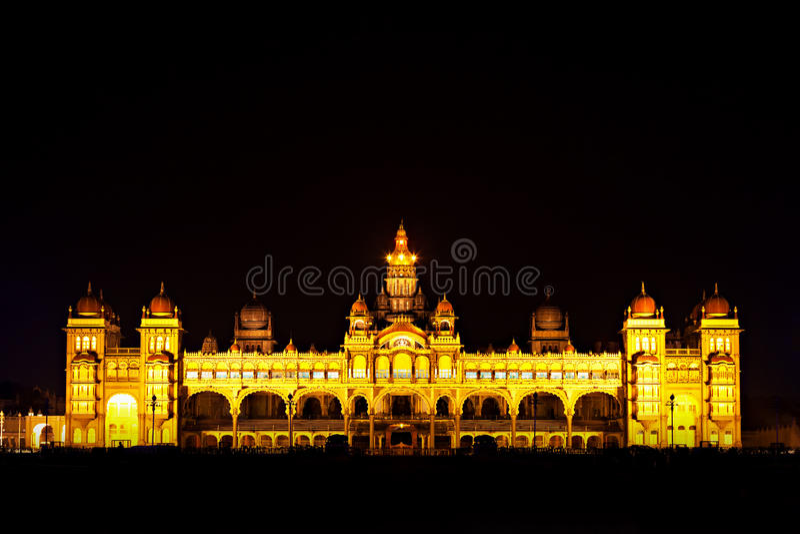 Дворец Mysore стоковое фото rf