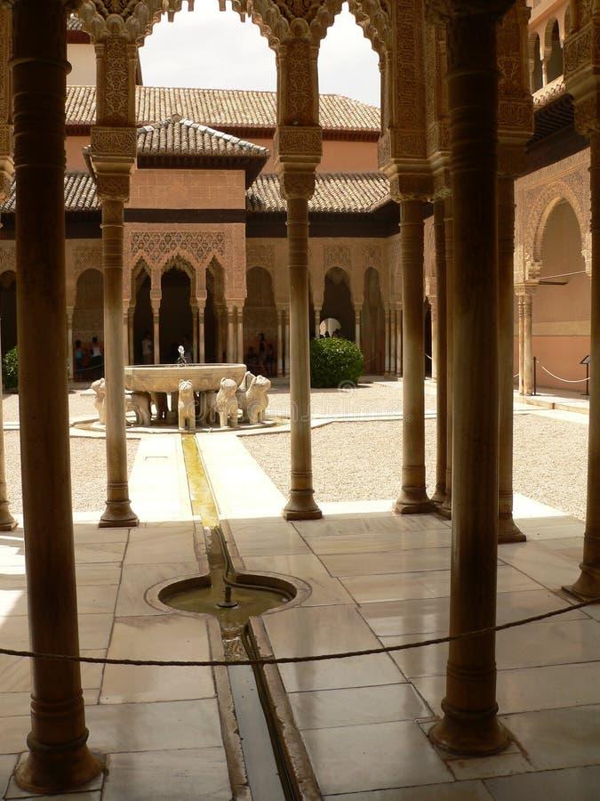 дворец nazarie alhambra стоковое фото
