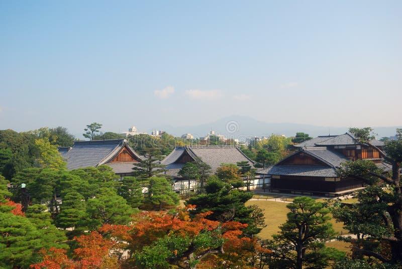 Дворец Ninomaru, Киото, япония стоковые фотографии rf