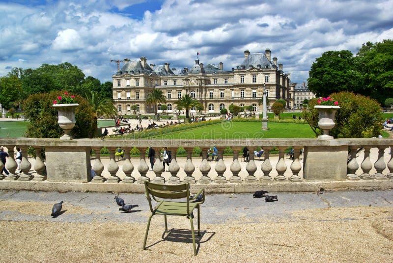 дворец paris Люксембурга стоковое изображение rf