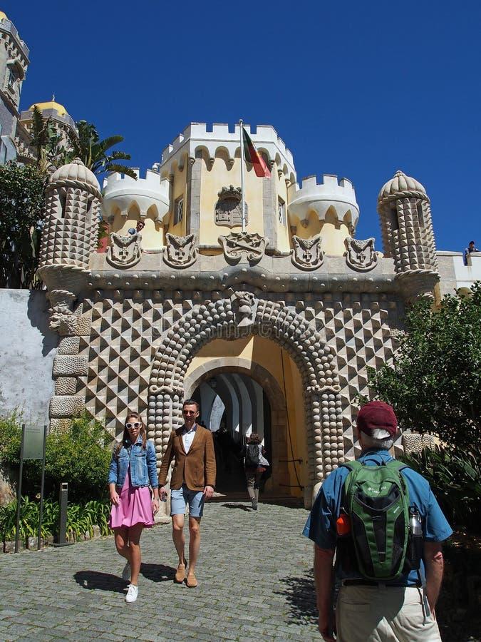 Дворец Pena в sintra Португалии стоковое фото