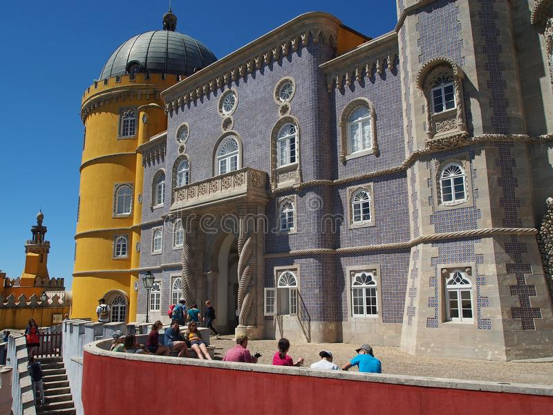 Дворец Pena в sintra Португалии стоковое фото rf